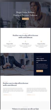 Modèle site web business