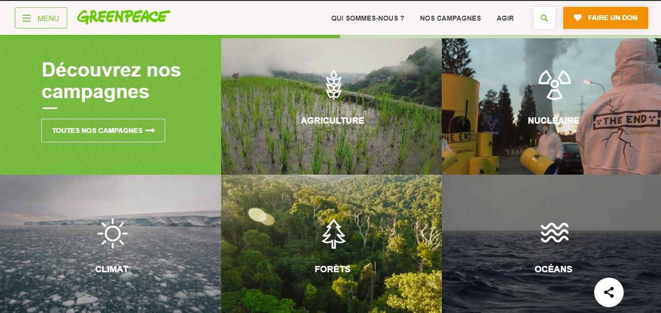 GreenPeace page web